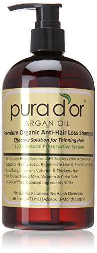 pura d'or argan oil hair loss shampoo